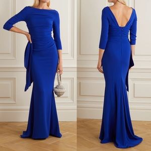 ✨ Talbot Runhof Ruched Draped Crepe Gown ✨